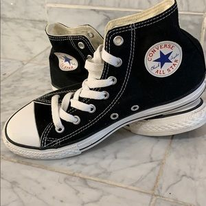 New. Black high top converse sneakers